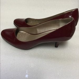 Alfani Step N Flex Burgundy Patent Leather Heels